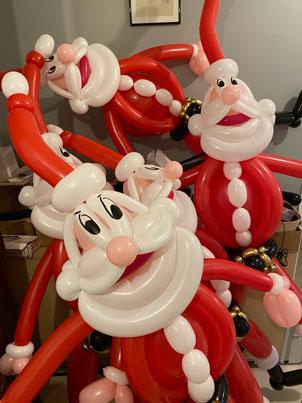 Pere-Noel en ballons